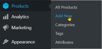 Adding Products To Your WooCommerce Store step 1