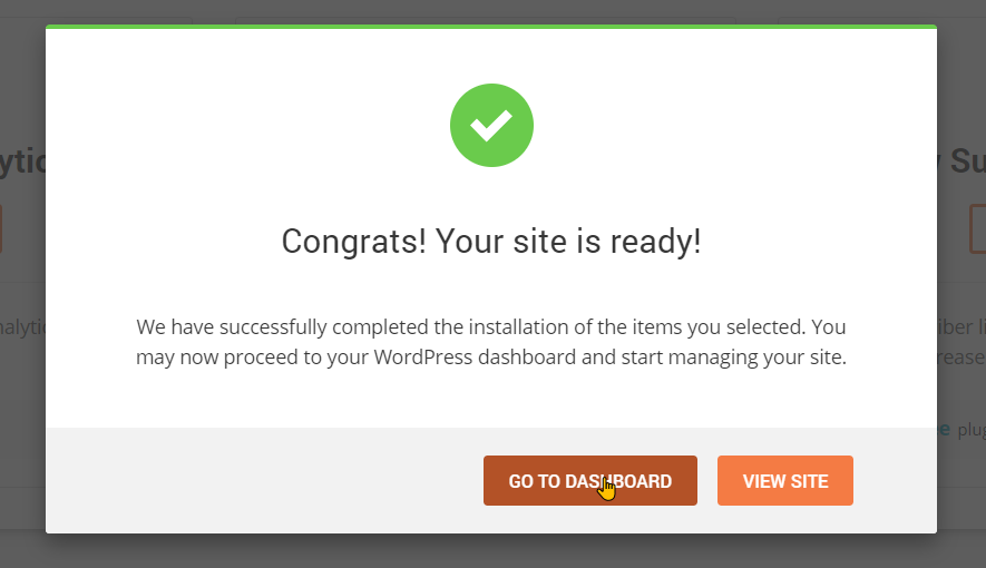 Setting up your website and WooCommerce step 1
