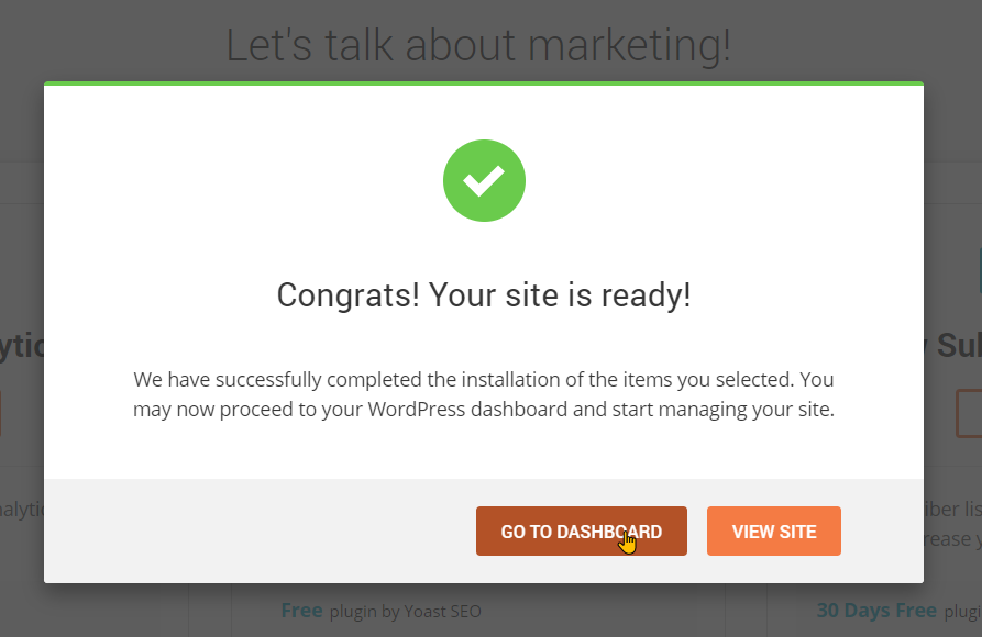 How To Install WordPress On SiteGround Step 5