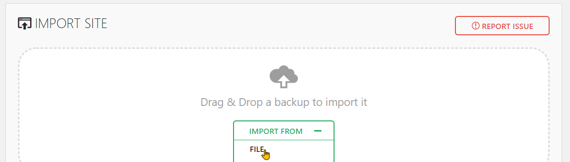 All-in-One WP Migration Free vs Premium Features Step 1