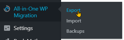 How To Backup Your Site With All-in-One WP Migration Step 4