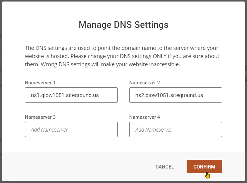 How To Update DNS Nameserver Settings Step-5