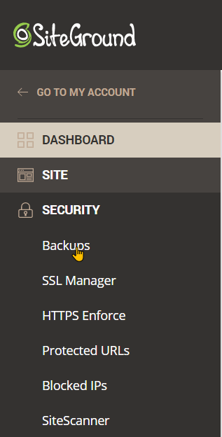 How to Create a WordPress Instant Backup Through Your Web Host Step 3