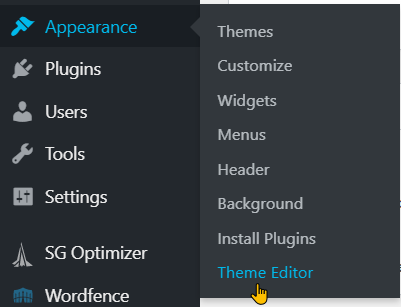 Edit Functions.php File Within WordPress Step 2