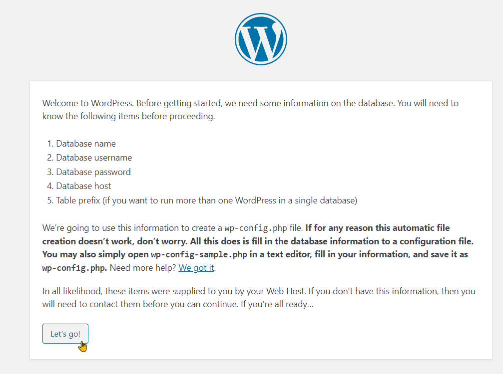 Configure WordPress On Your Local Web Stack Step 3
