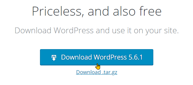 Download and Install WordPress On WampServer Step 3b