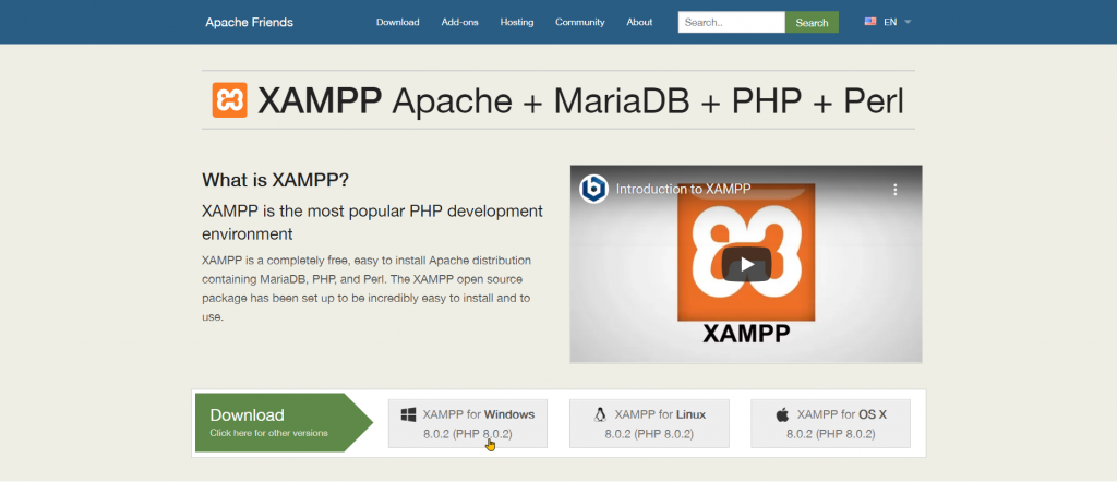Download and Install XAMPP Step 2