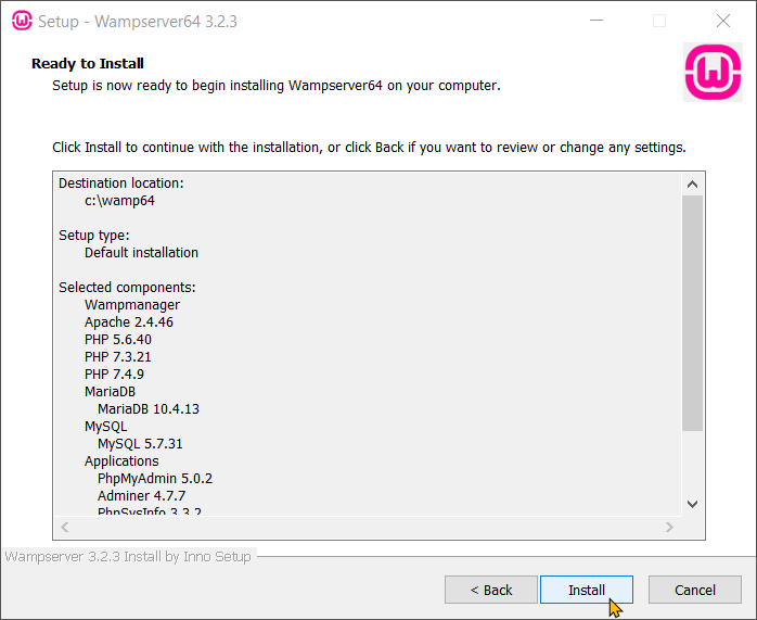 Download and Install WampServer Step 11