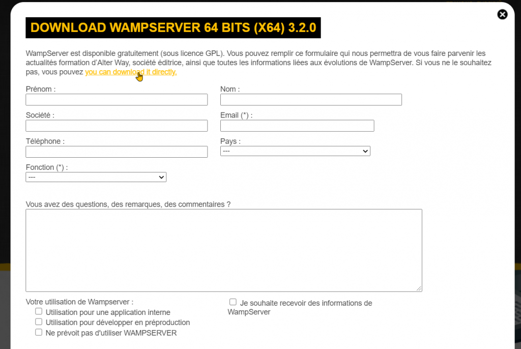 Download and Install WampServer Step 3
