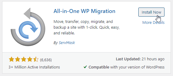 How To Backup A Local WordPress Site Using A Plugin Step 2
